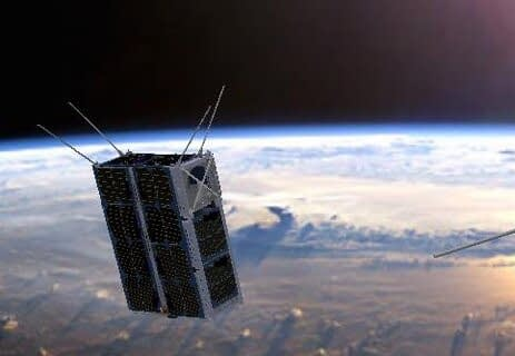 small satellite in space